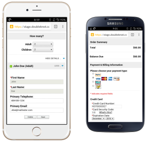 Doubleknot's Mobile-Friendly Registration and Payment Pages